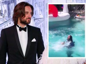 El momentazo de la boda de Carlota Casiraghi y Dimitri Rassam: ¡Los cuñados lanzan al novio a la piscina!