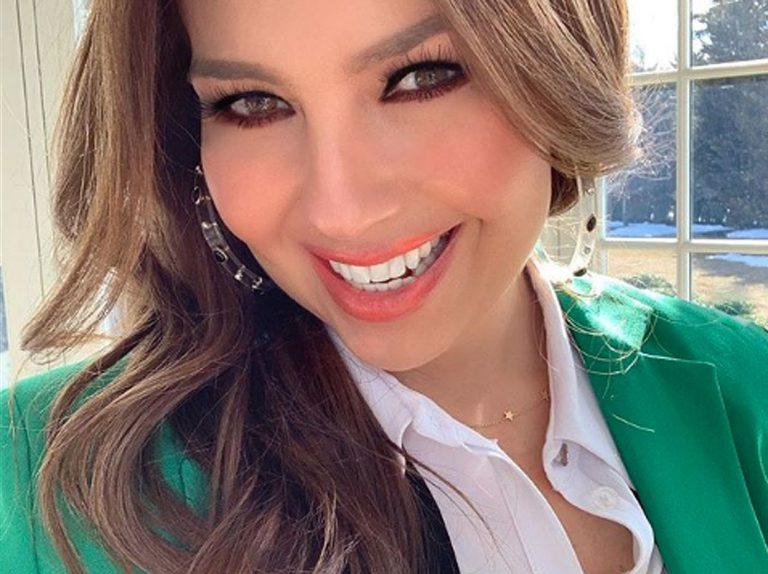 La foto de Thalía sin peinar y sin maquillaje se convierte en viral