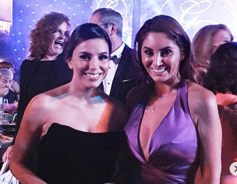 Aneth se codea con Eva Longoria en la Gala Global Gift de Marbella