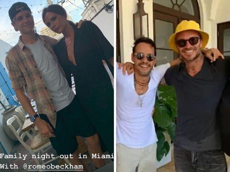 Los Beckham y sus divertidas vacaciones con los famosos más VIP de Miami