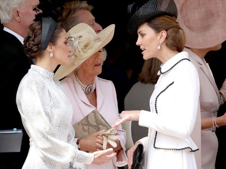 Letizia, en medio de un feo gesto de Kate Middleton con Camilla Parker Bowles recogido en un vídeo