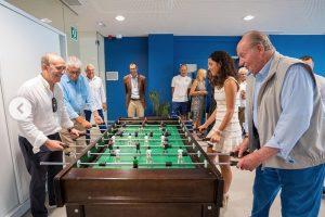 La partida de futbolín entre Juan Carlos y Xisca Perelló, la novia de Nadal