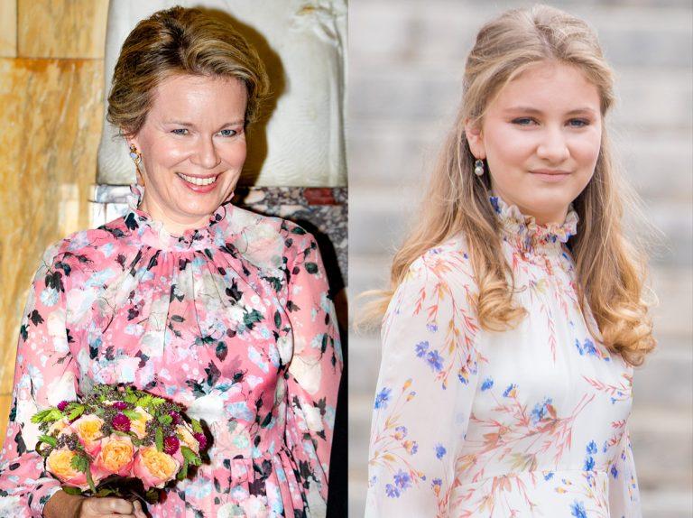 Elisabeth de Bélgica (17 años) se viste como su madre (46 años)