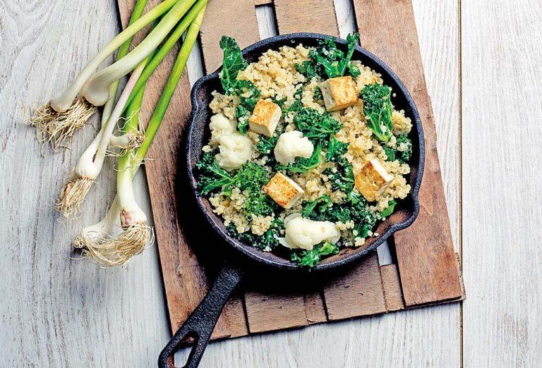 Revuelto de quinoa con verduras