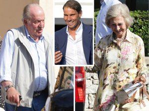 Así fue la comida de don Juan Carlos y doña Sofía con Rafa Nadal