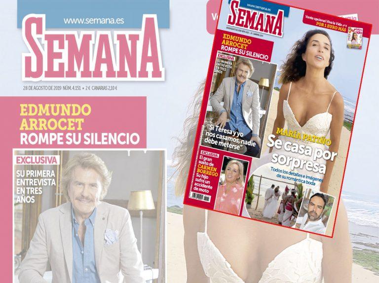 En SEMANA, Todos los detalles de la boda sorpresa de María Patiño