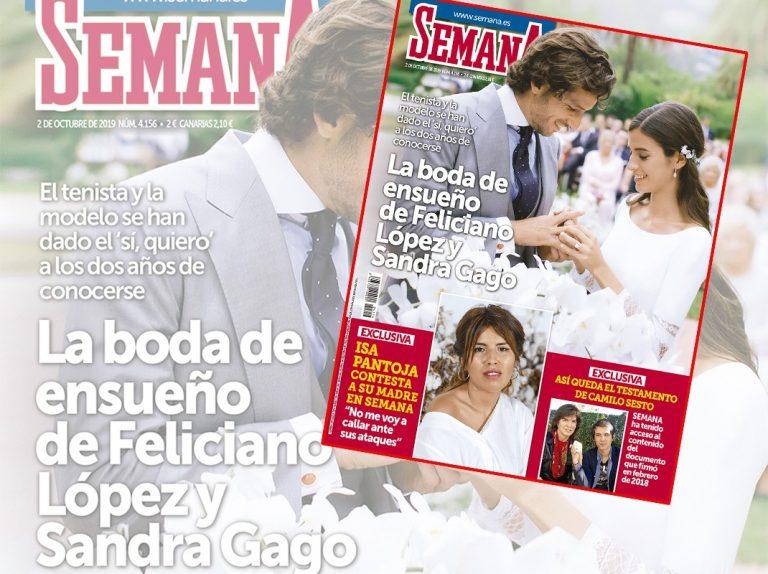 En SEMANA, Todos los detalles de la boda de ensueño de Feliciano López y Sandra Gago