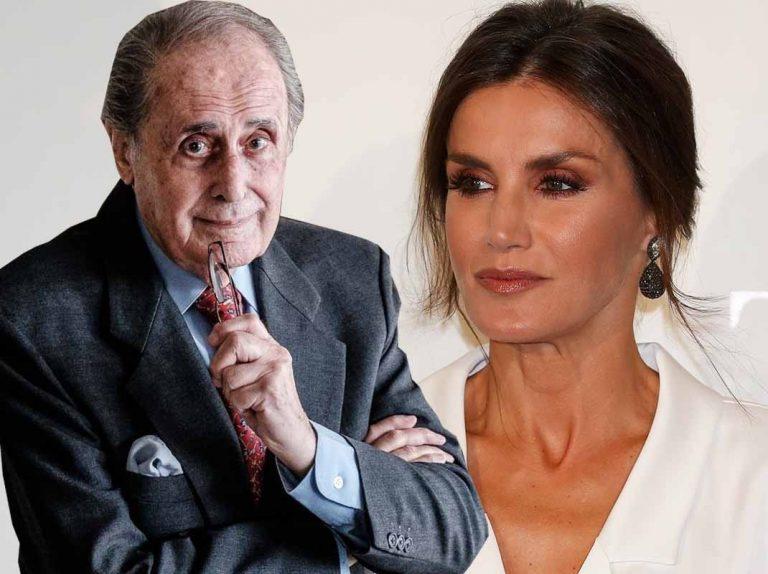 Jaime Peñafiel defiende a su mujer de su curioso incidente con la Reina Letizia