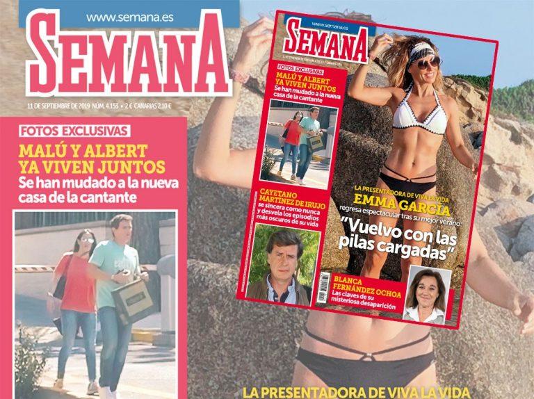 En SEMANA, Emma García regresa espectacular tras su mejor verano: «Vuelvo con las pilas cargadas»