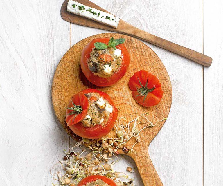 Tomates rellenos de quinoa