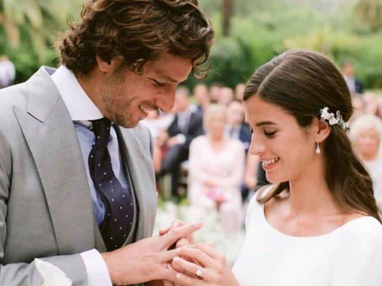 Sandra Gago muestra una nueva imagen de su boda y Feliciano López le lanza una proposición