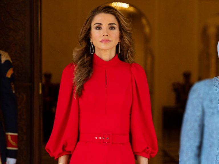 Rania de Jordania: el vestido rojo con el que hace la competencia a Letizia