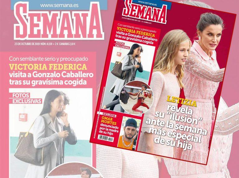 En SEMANA, Victoria Federica visita a Gonzalo Caballero tras su grave cogida