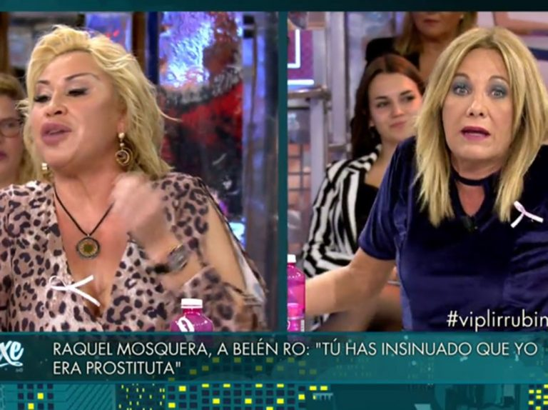 La tremenda bronca entre Raquel Mosquera y Belén Rodríguez: «Tú has insinuado que yo era prostituta»