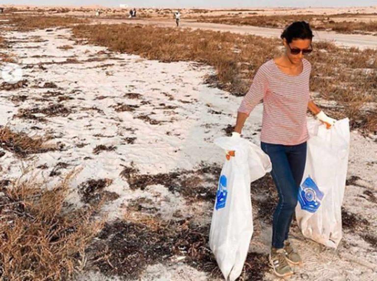 Fotos del día: La imagen más solidaria de Ana Boyer