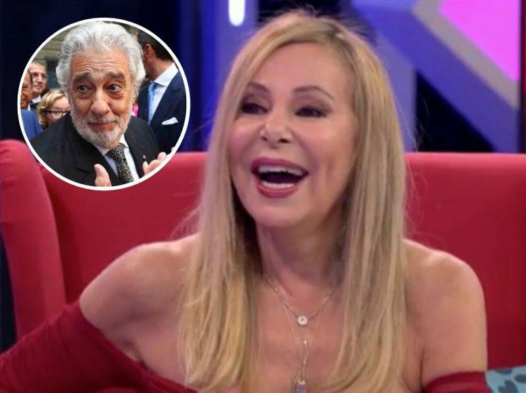Ana Obregón sale en defensa de Plácido Domingo: «Me da mucha pena»