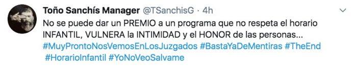Toño Sanchís Belén Esteban