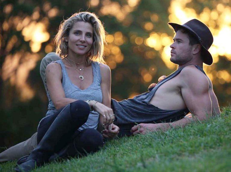 Así 'trolea' Chris Hemsworth a Elsa Pataky mientras hace deporte