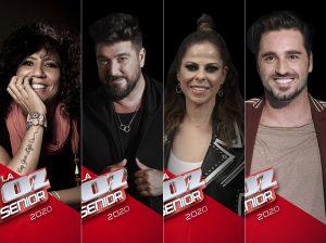 Bustamante, Pastora Soler, Rosana y Antonio Orozco, nuevos coaches de 'La Voz Senior'