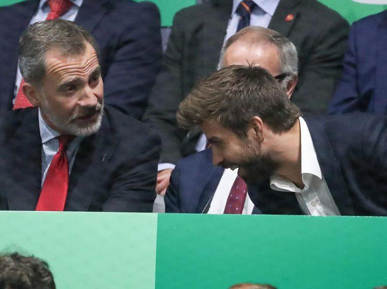 El rey Felipe preside la final de la Copa Davis junto a Gerard Piqué