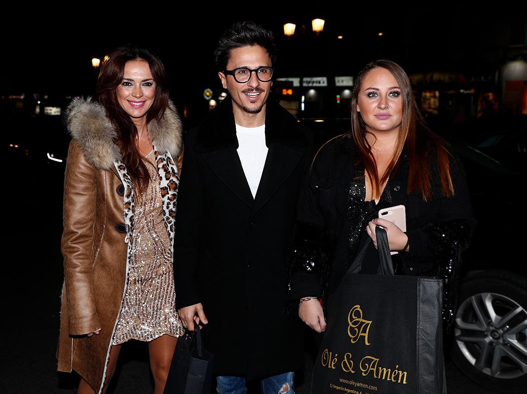 Olga Moreno, Agustín Etienne y Rocío Flores