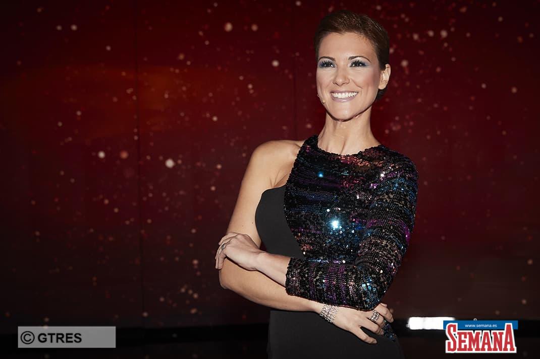 Model and former miss Maria Jesus Ruiz on tv show » Debate Gran Hermano Vip » in Madrid. 15/09/2019