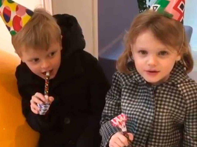 Jacques y Gabriella de Mónaco lanzan un mensaje a su abuela en su 5 cumpleaños