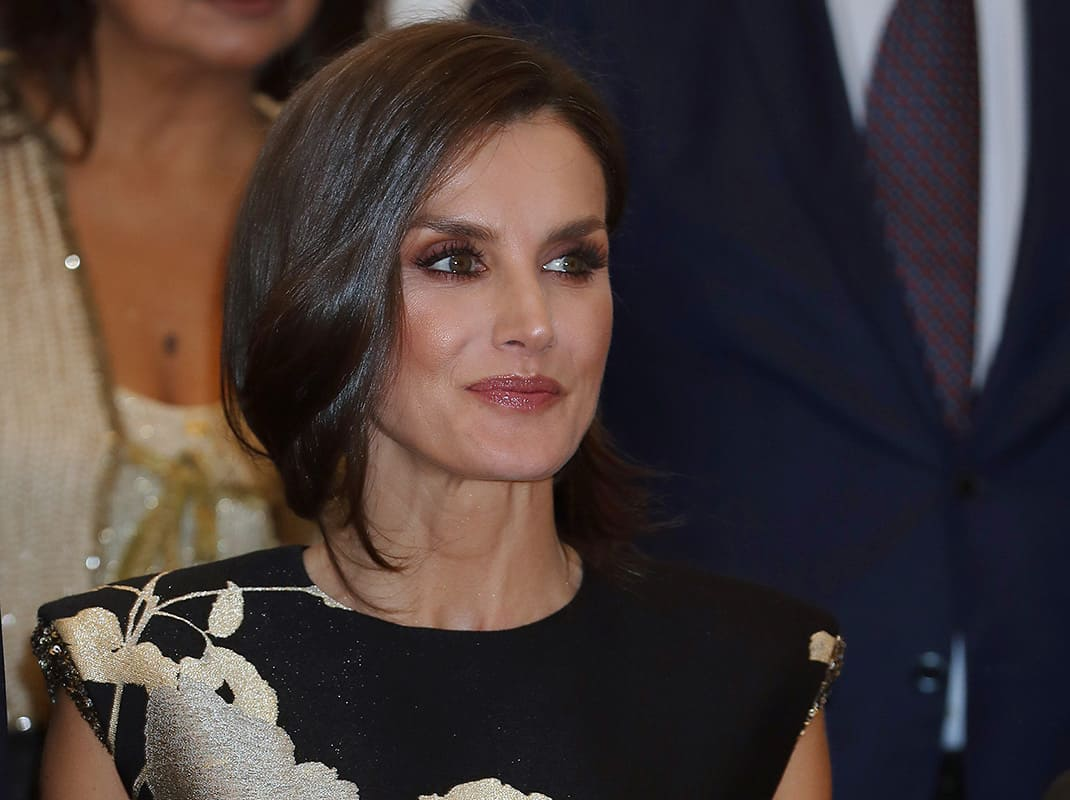 Spanish Queen Letizia during the delivery of the 36 edition of the Journalist Award «Francisco Cerecedo» in Madrid on Thursday, 28 November 2019.