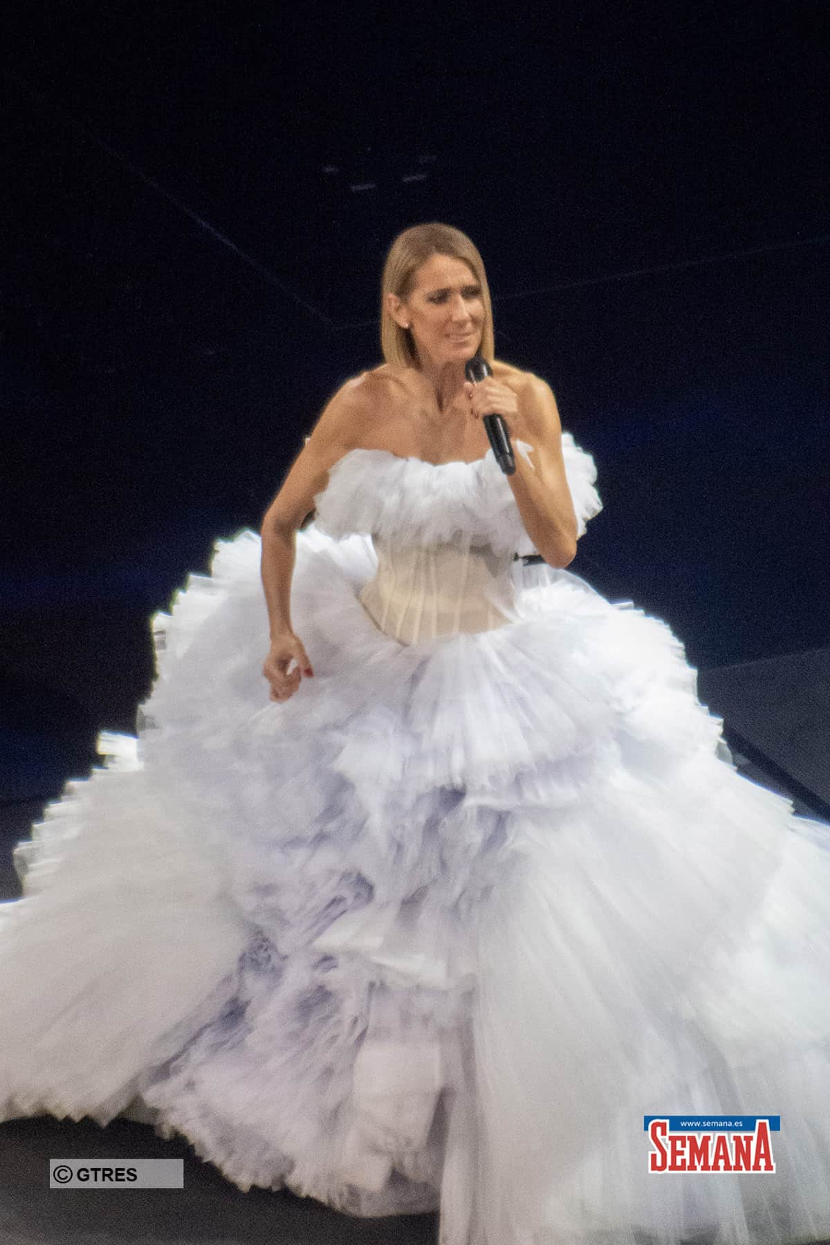 The show must go on. Celine Dion performs in Miami just hours after her mother Therese Dion dies in Montreal, Canada .