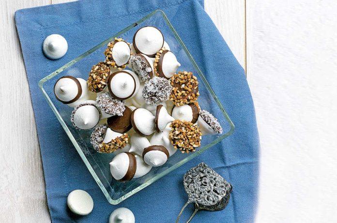 merengue con chocolate