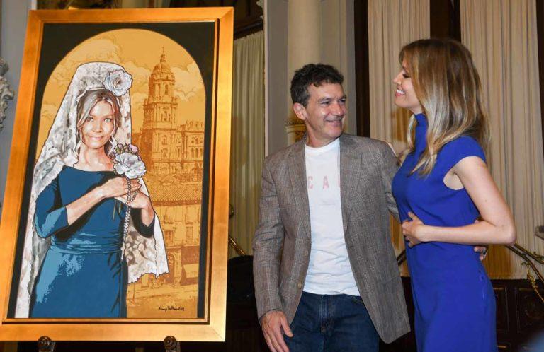 Nicole Kimpel, novia de Antonio Banderas, musa en Málaga