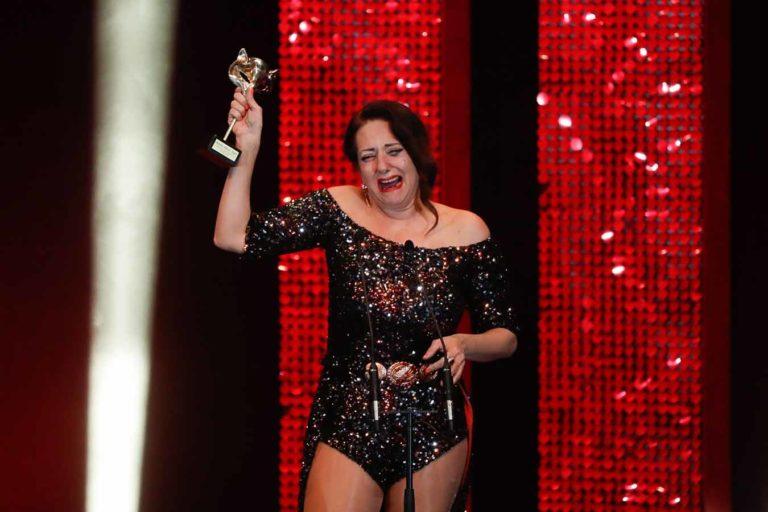 Las lágrimas de Yolanda Ramos al recibir el Premio Feroz 2020