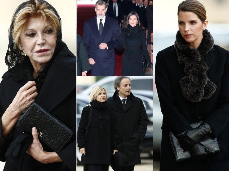 Desfile de personalidades en el último adiós a la Infanta Pilar en El Escorial