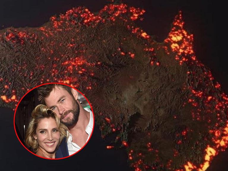 Elsa Pataky y Chris Hemsworth donan un millón de euros contra los incendios de Australia