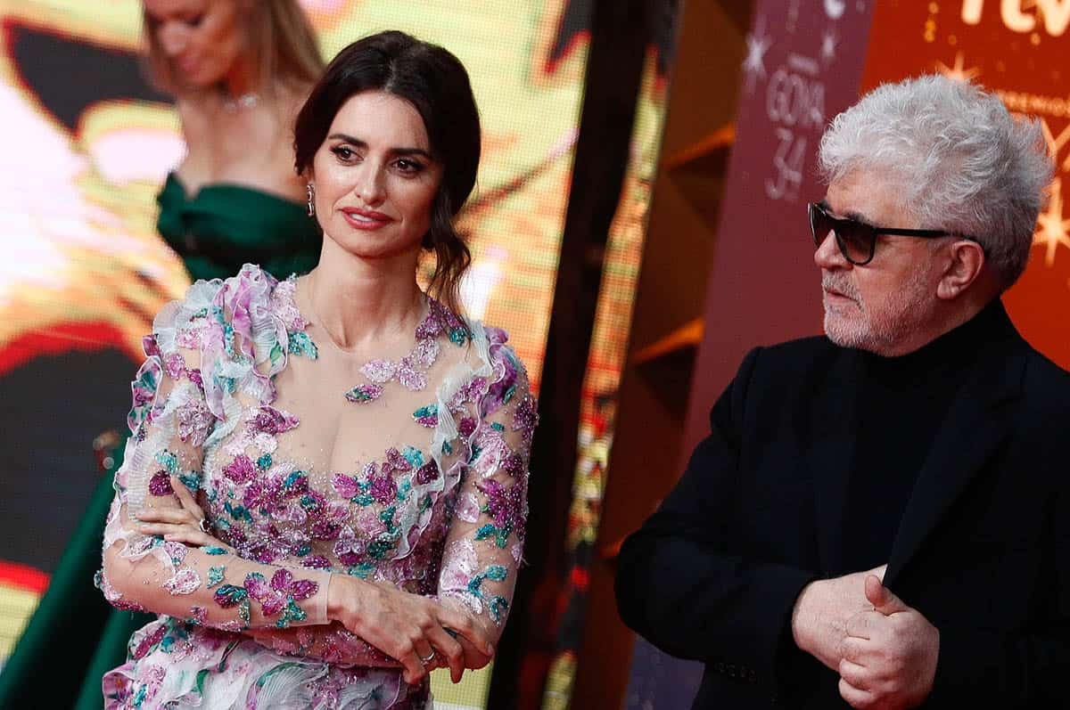 Actress Penelope Cruz and Pedro Almodovar at photocall of the 34th annual Goya Film Awards in Malaga on Saturday, 25 January 2020.