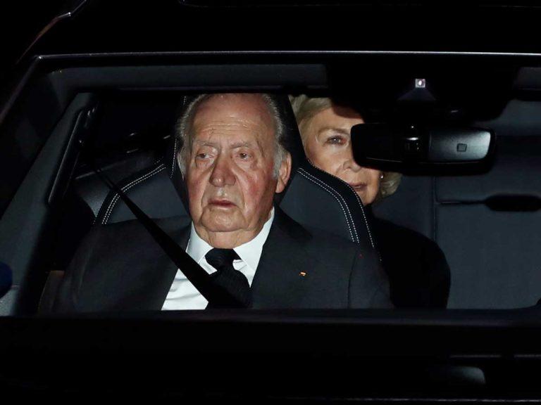 La Familia Real se despide de la infanta Pilar, hermana del rey Juan Carlos, en la capilla ardiente