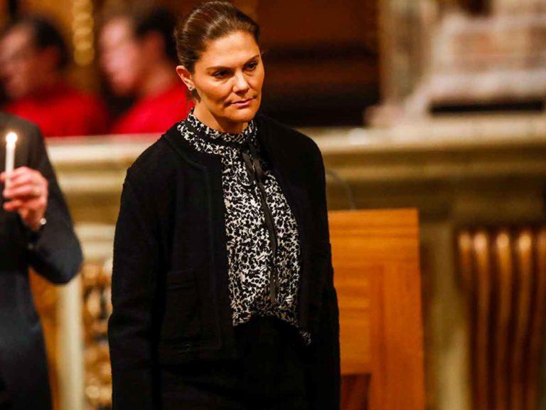 La princesa Victoria de Suecia, de funeral por las víctimas de un accidente aéreo
