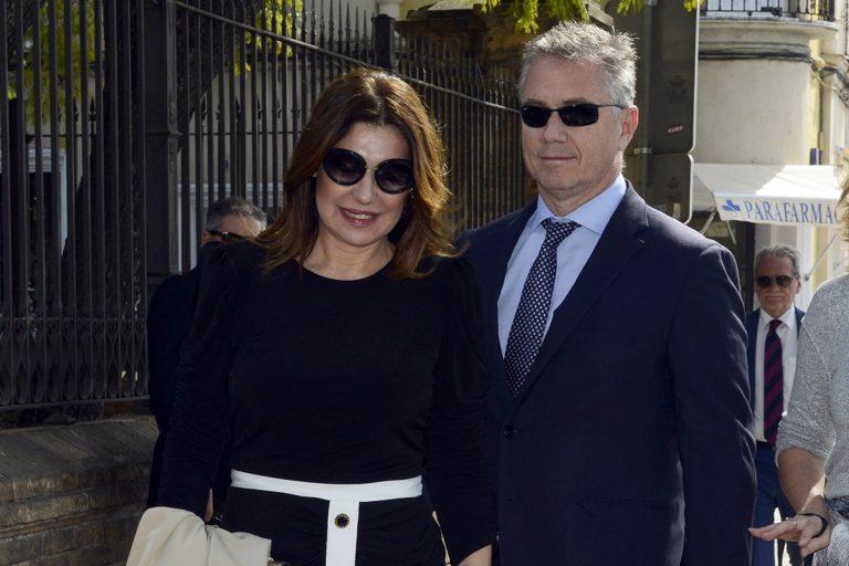 Raquel Revuelta reaparece públicamente tras la muerte de su exmarido