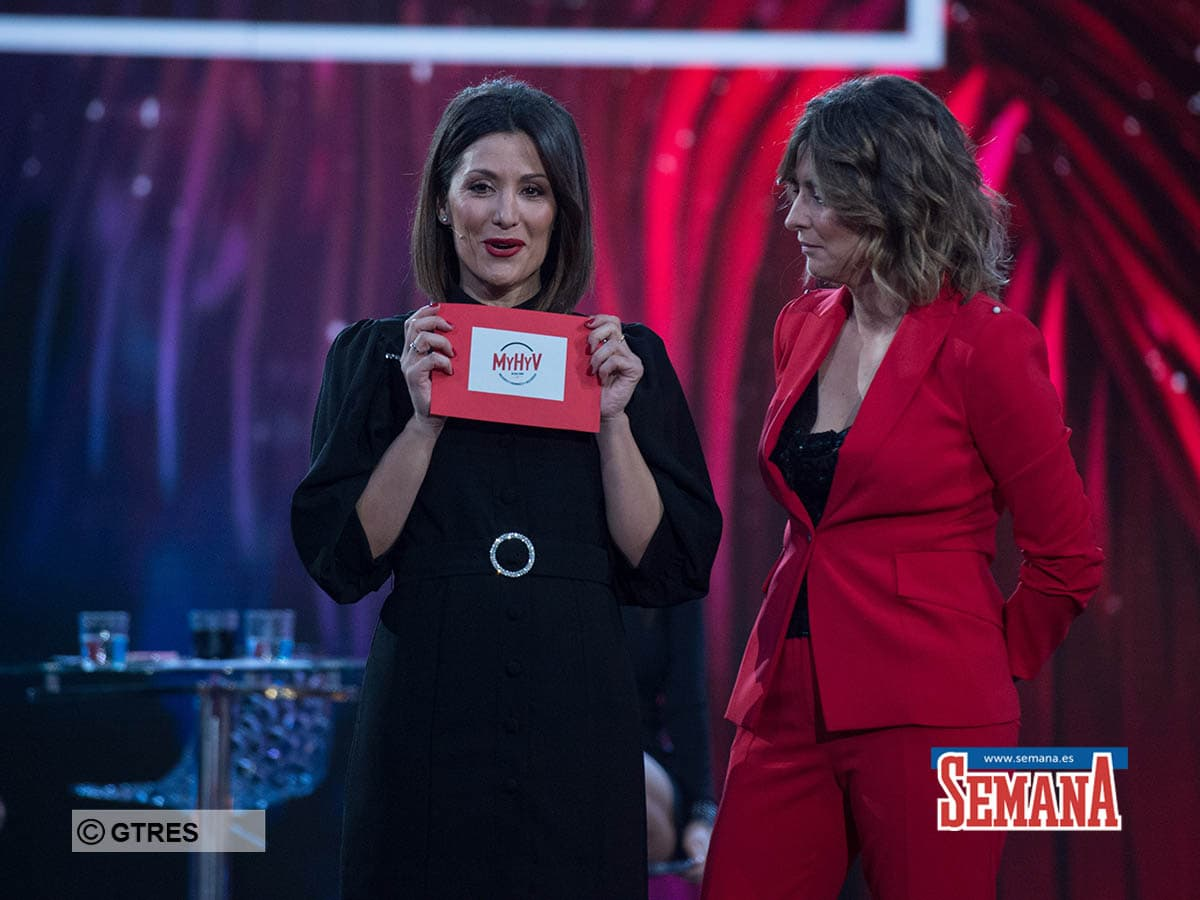 Sandra Barneda,Nagore Robles on tv show Debate: Isla de las tentaciones in Madrid on Friday, 14 February 2020.