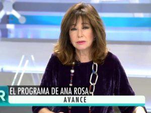 Ana Rosa Quintana, muy emocionada tras la pérdida de un gran amigo y compañero