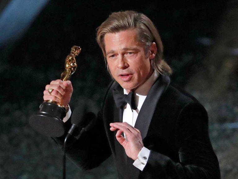 Brad Pitt dedica su primer Oscar como actor a sus hijos