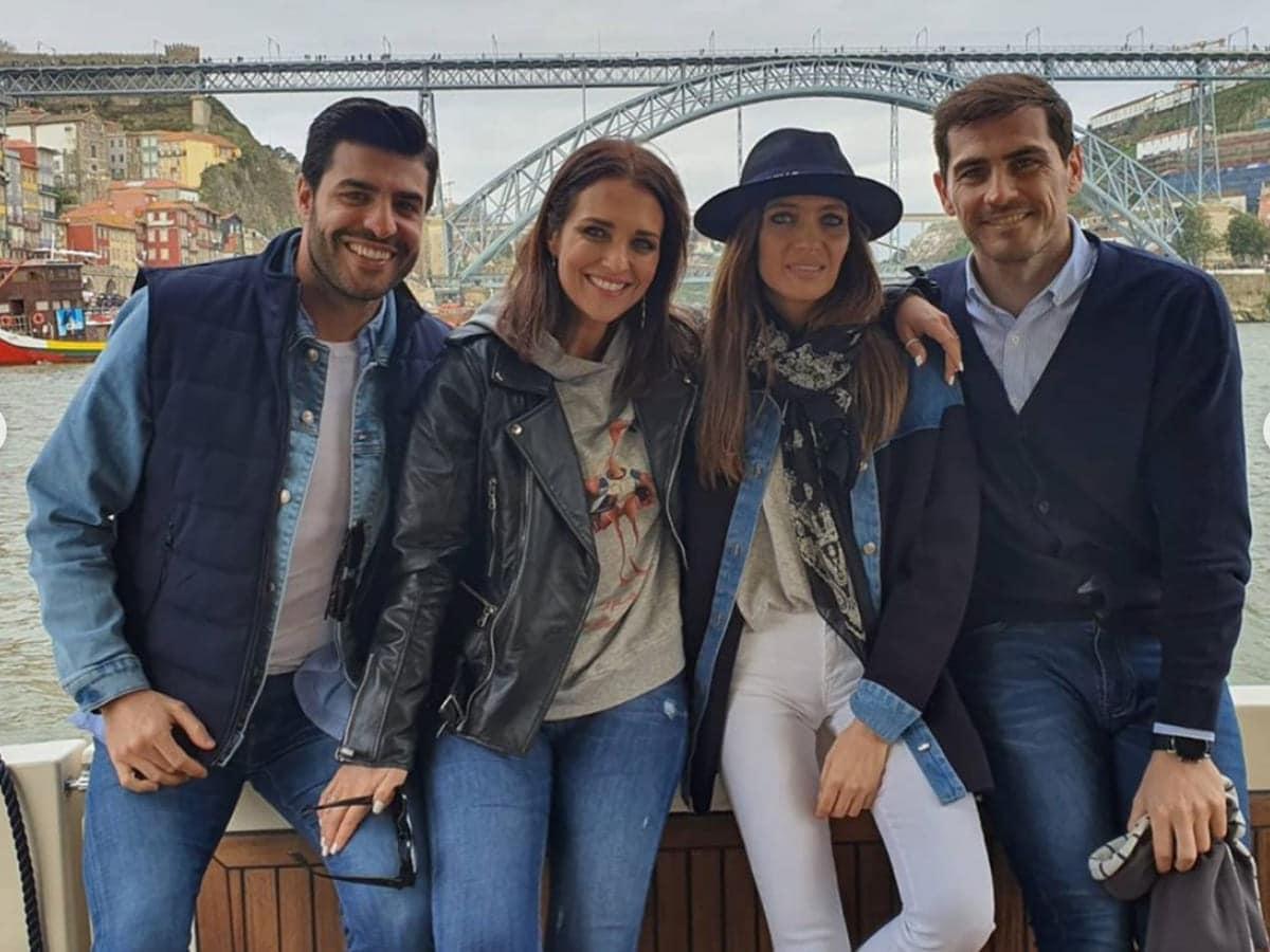 Iker Casillas, Miguel Torres, Paula Echevarría, Sara Carbonero
