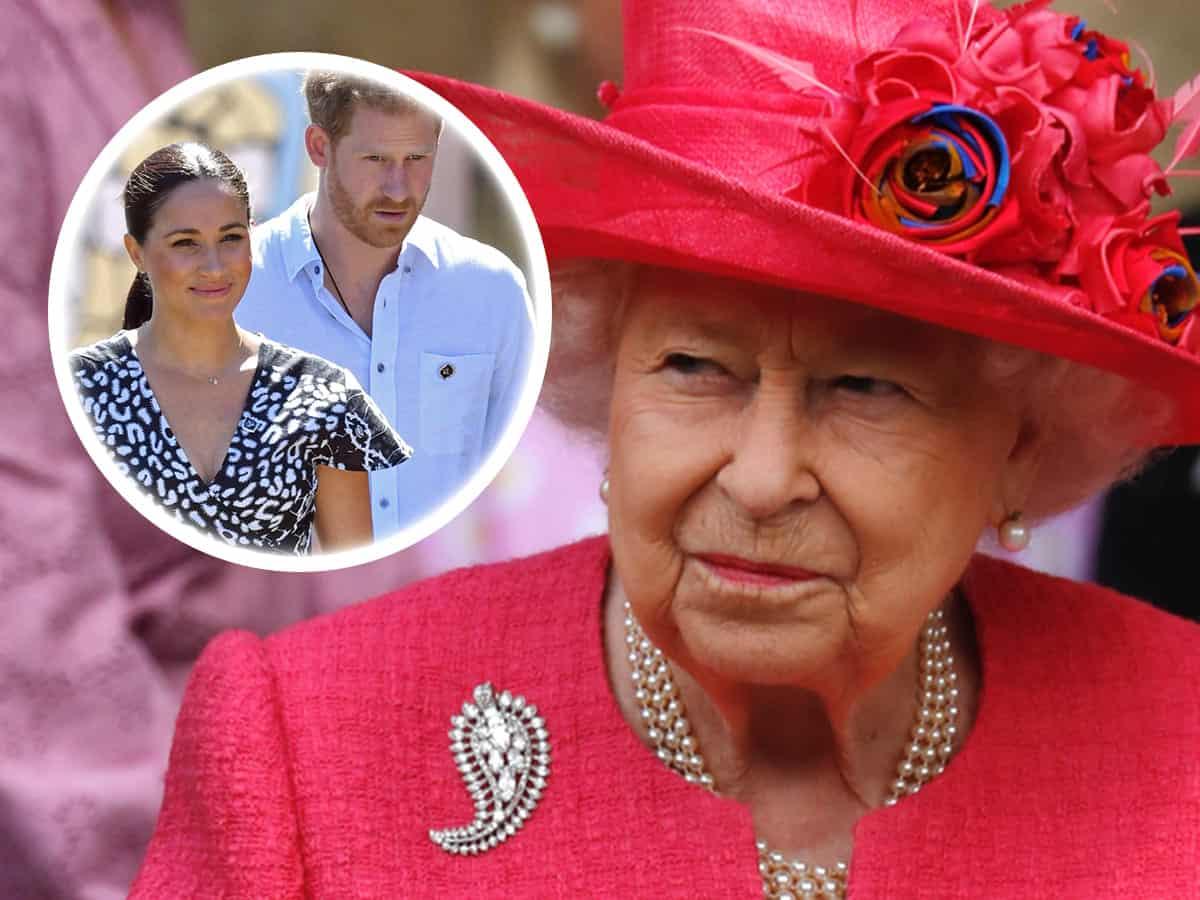 Isabel II, Harry, Meghan Markle