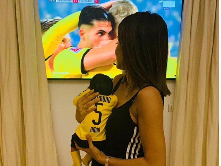 Fotos del día: La imagen más tierna de Hiba Abouk con su bebé