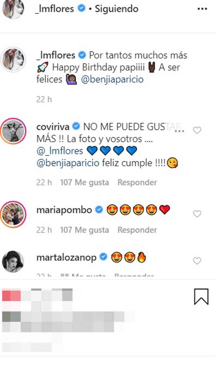 Laura Matamoros Benji Aparicio