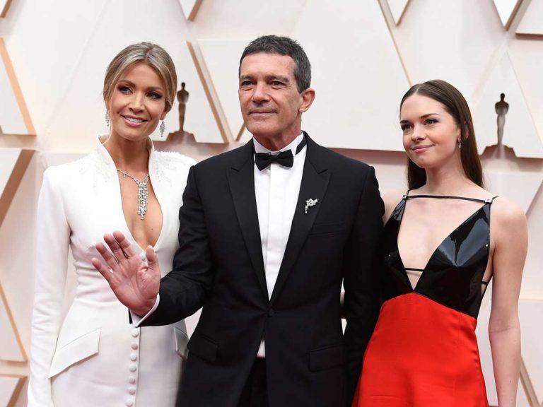 Oscar 2020: Nicole Kimpel y Stella, junto a Antonio Banderas en su día más importante
