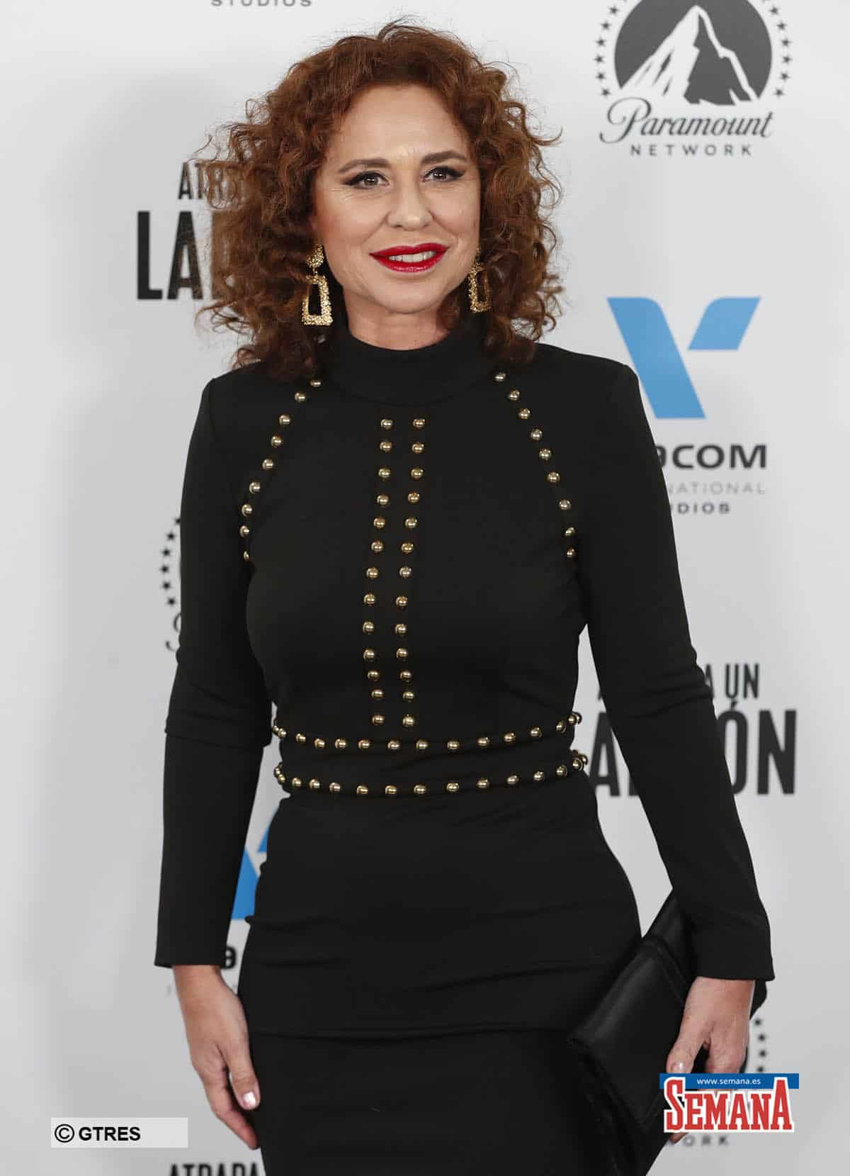 Singer Vicky Larraz during the «Atrapa un ladron» premiere, in Madrid, on Wednesday 06, November 2019