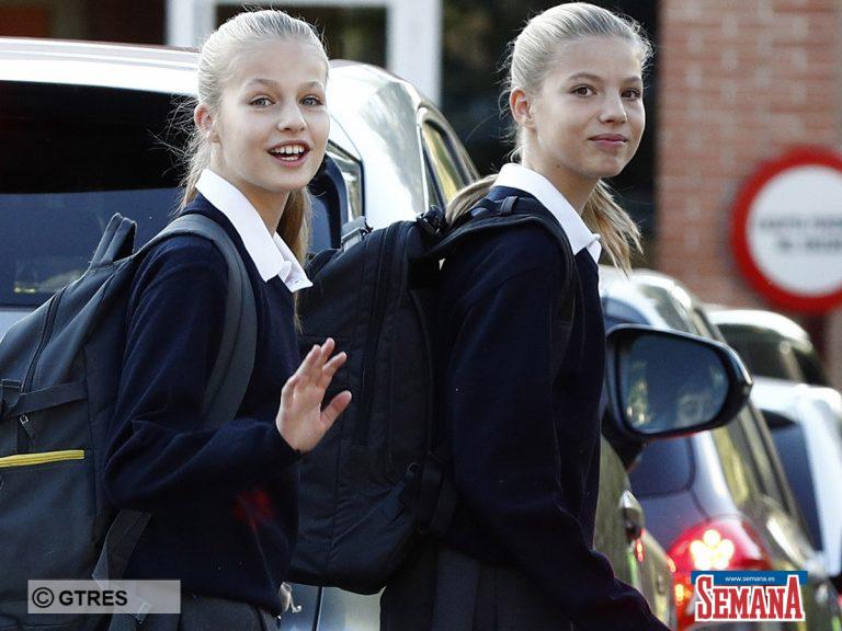 Leonor y Sofía desafían al coronavirus: van al colegio, aunque toman medidas para evitar un contagio