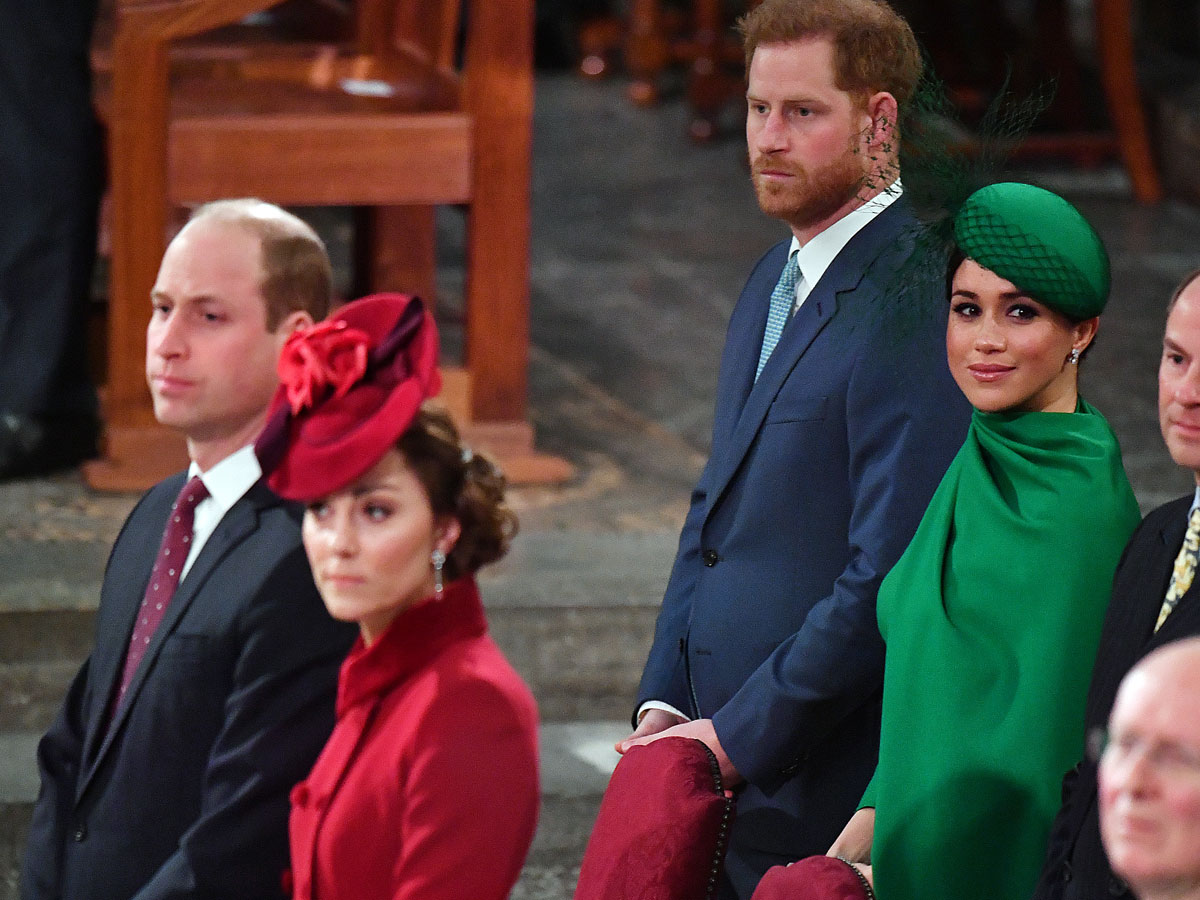 El príncipe Harry, el príncipe Guillermo, Kate Middleton y Meghan Markle