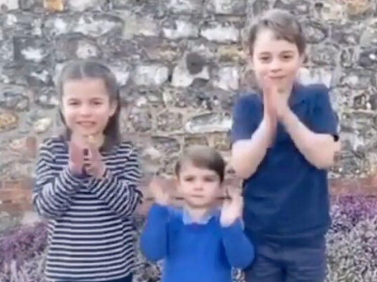 Los hijos de Guillermo y Kate Middleton se suman a los aplausos a los sanitarios